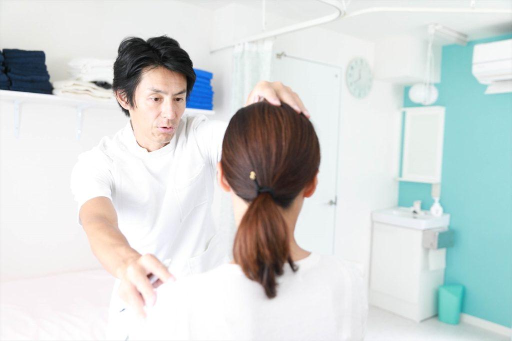 すずき鍼灸接骨院バランス検査風景